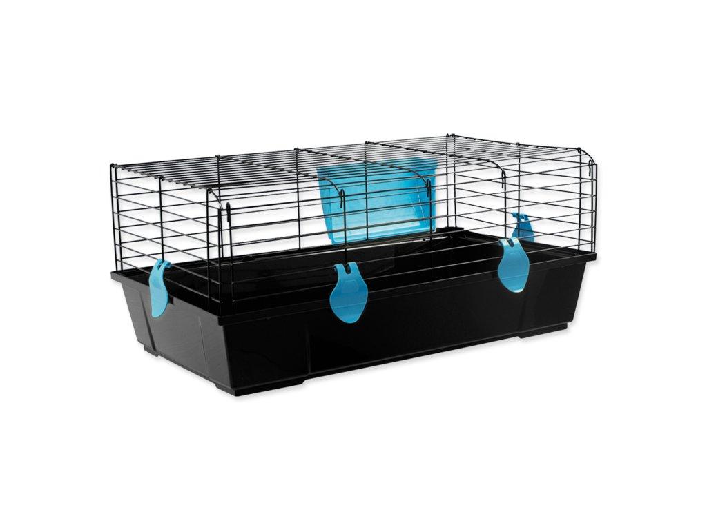 Klec SMALL ANIMALS Matěj černá s modrou výbavou 80 x 46 x 35 cm (1ks)  Klec SMALL ANIMALS Matěj černá s modrou výbavou 80 x 46 x 35 cm (1ks)