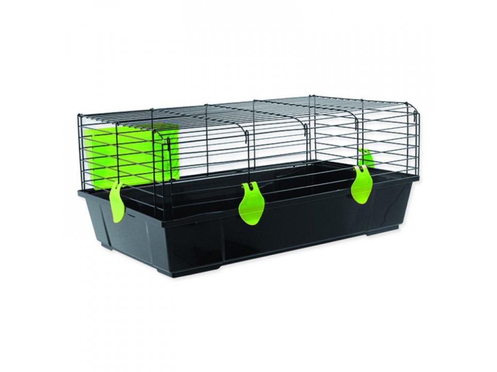Klec SMALL ANIMALS Matěj černá se zelenou výbavou 80 x 46 x 35 cm (1ks)  Klec SMALL ANIMALS Matěj černá se zelenou výbavou 80 x 46 x 35 cm (1ks)