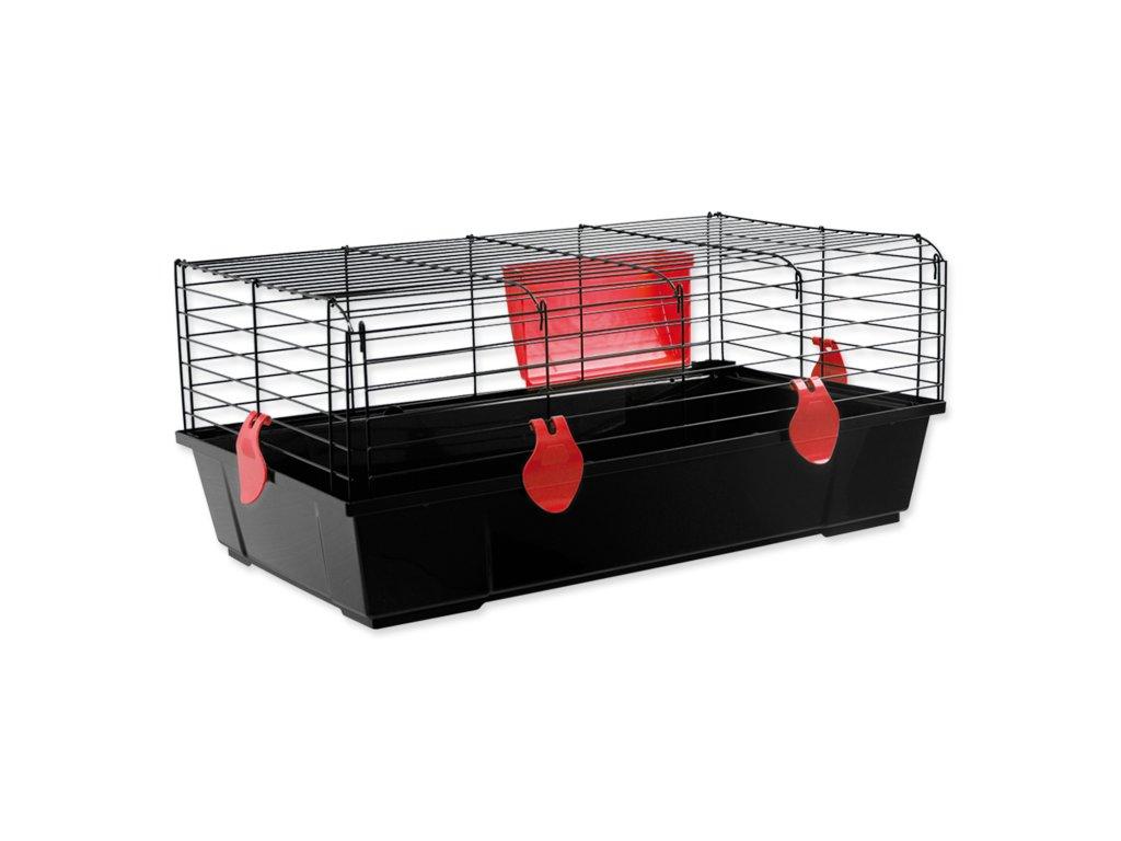 Klec SMALL ANIMALS Michal černá s červenou výbavou 100 x 55 x 39 cm (1ks)  Klec SMALL ANIMALS Michal černá s červenou výbavou 100 x 55 x 39 cm (1ks)