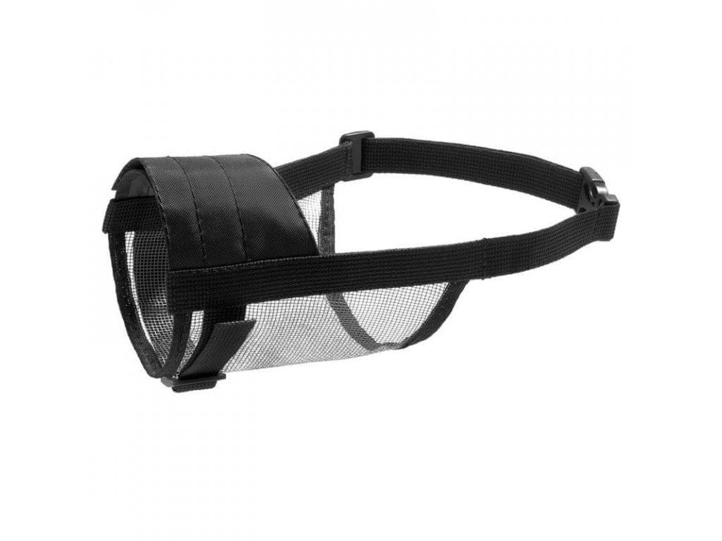 Náhubek nylonový se síťkou, polyester, černý S-M (typově na psa-stř.pudl)