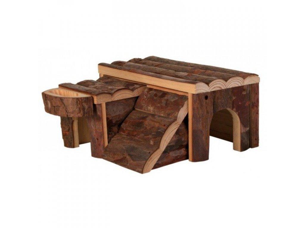 DŘEVĚNÝ DOMEK LUKA PRO KŘEČKA 14X7X14CM TRIXIE  Přírodní dřevěný domeček jako skvělý úkryt pro křečka