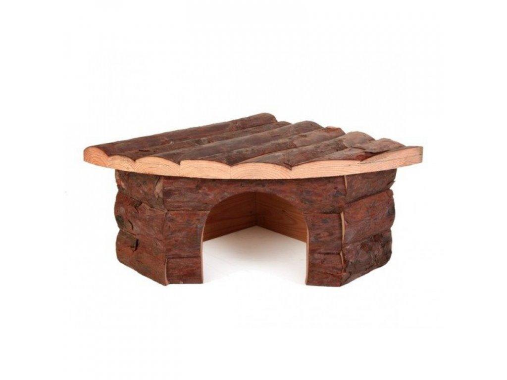Dřevěný rohový dům Jesper pro králíka 42x15x30cm/30cm