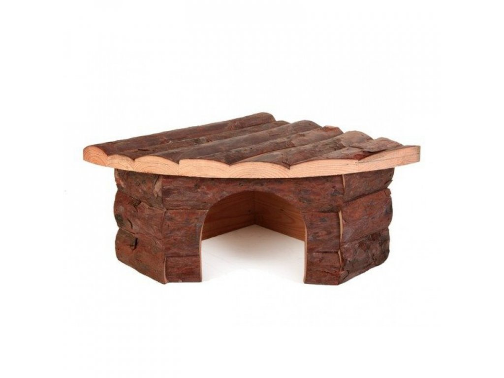 Dřevěný dům rohový JESPER pro křečky 21x10x15/15cm