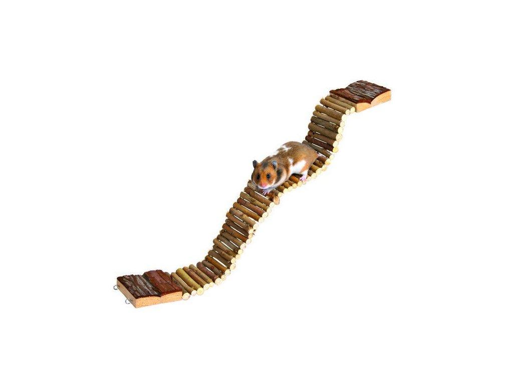 Visutý dřevěný most pro malé hlodavce 55x7cm Trixie