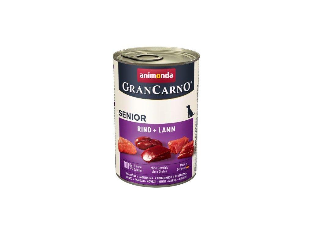 GRANCARNO Senior - hovězí, jehněčí 6x400g - výhodné balení