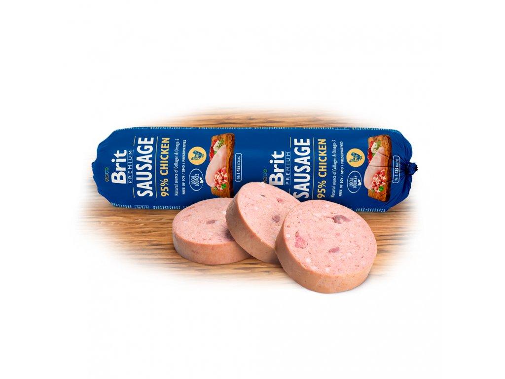 Salám BRIT Premium Dog Sausage Chicken (800g)