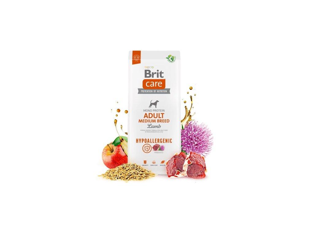 Brit Care Dog Adult Medium Breed Lamb & Rice  věrnostní sleva při registraci