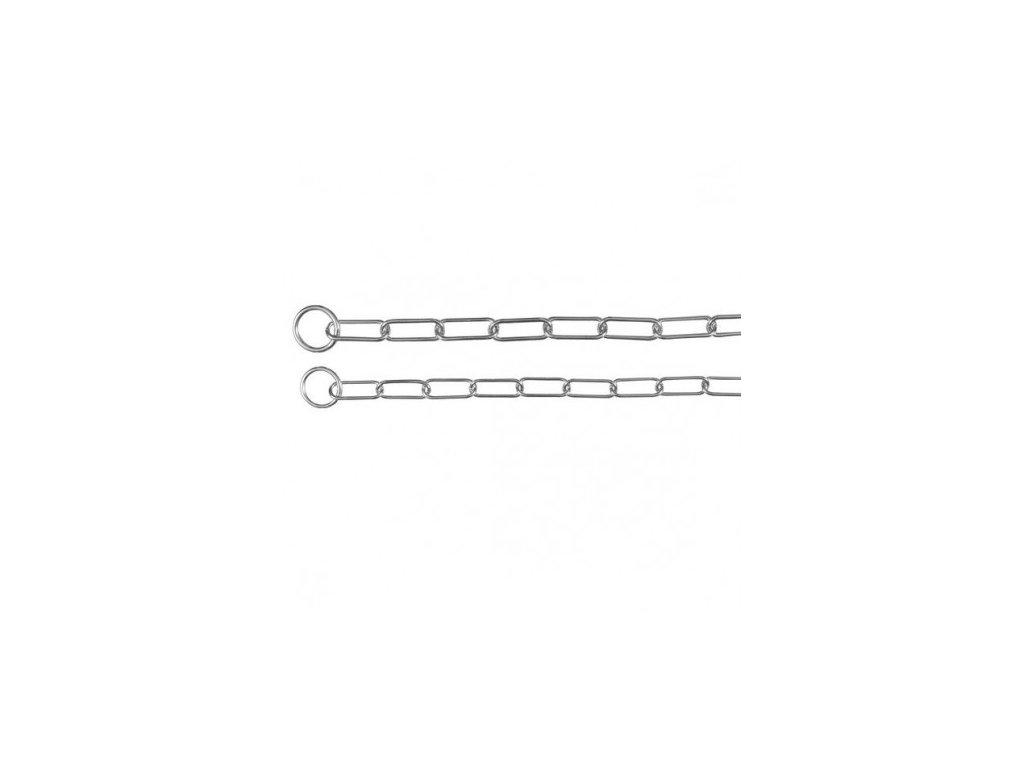 Stahovací obojek jednořadý velká oka 66cm/4mm
