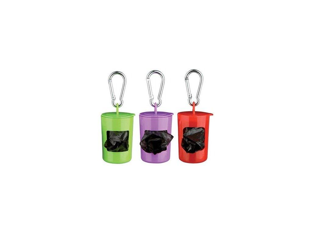 Pick up - plastový zásobník + sáčky na trus,2xrole á20 sáčků