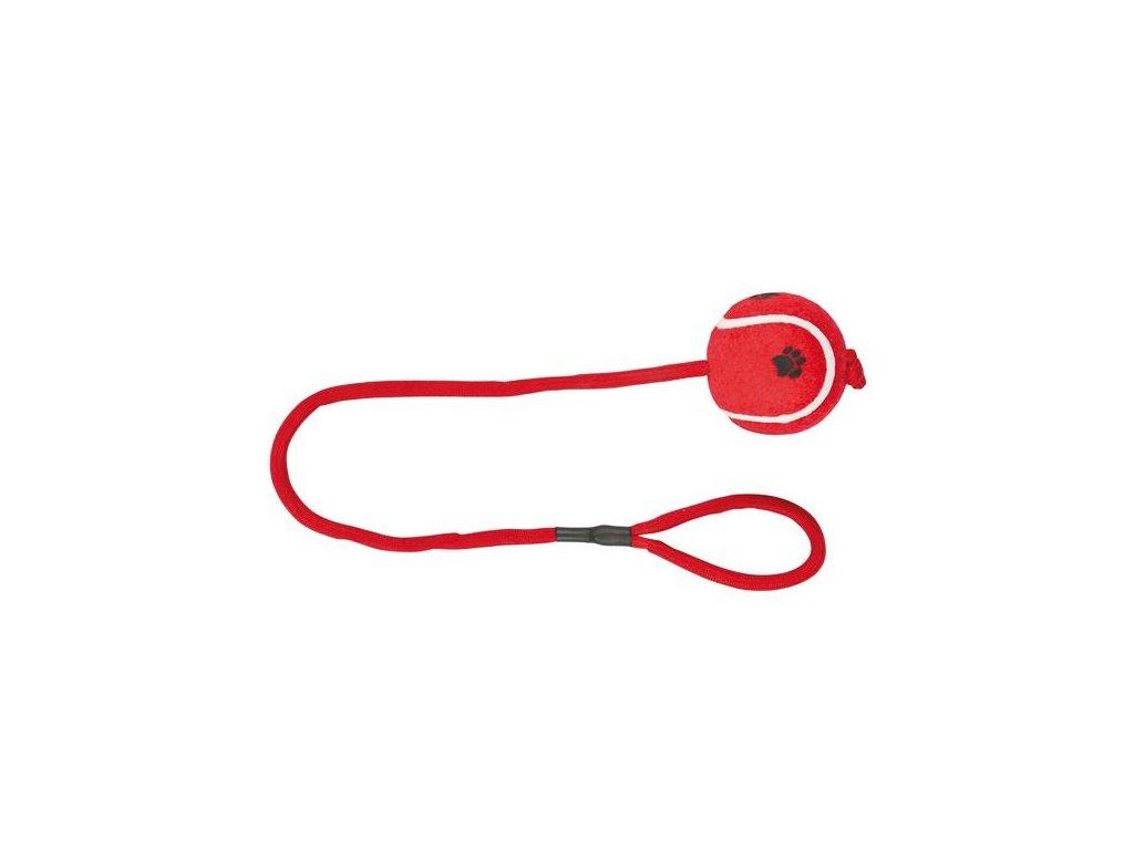 Vrhací tenisový míč na šňůře 6 cm/50 cm žlutý