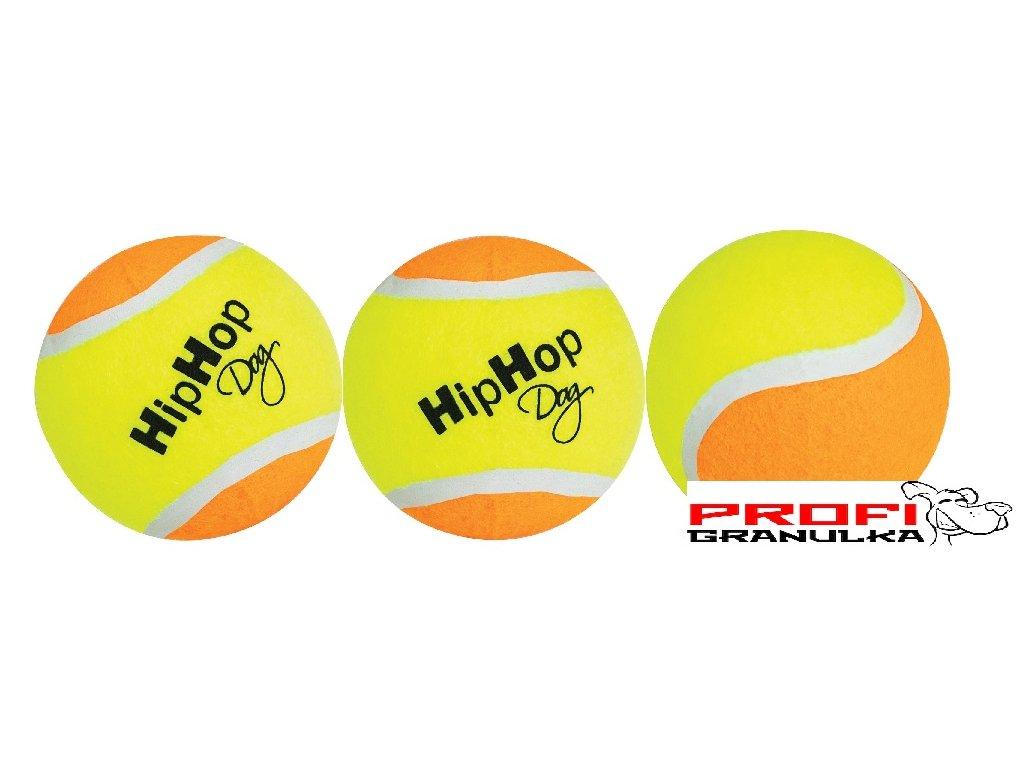 HIPHOP Dog Tenisový míč barevný 6,5 cm, 3 ks v bal.