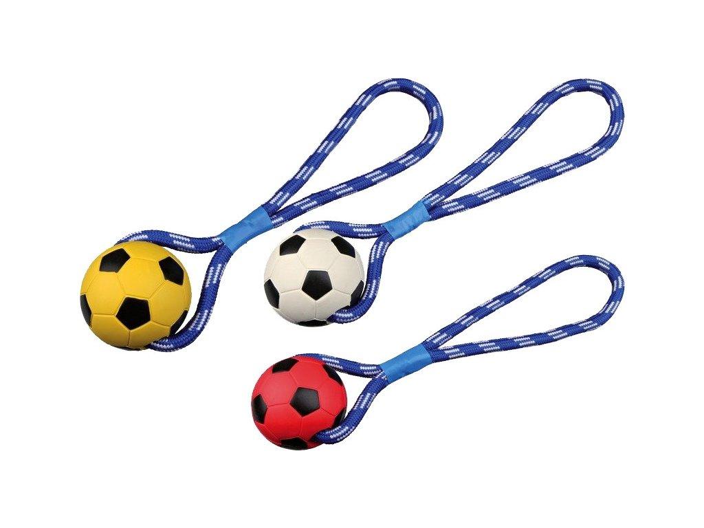 Vrhací míč tvrdá guma na šňůře 8cm/35 cm