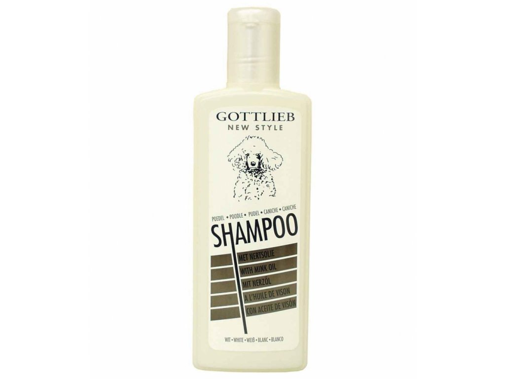 Gottlieb Pudel šampon 300ml-pro bílé pudly s makadam. olejem
