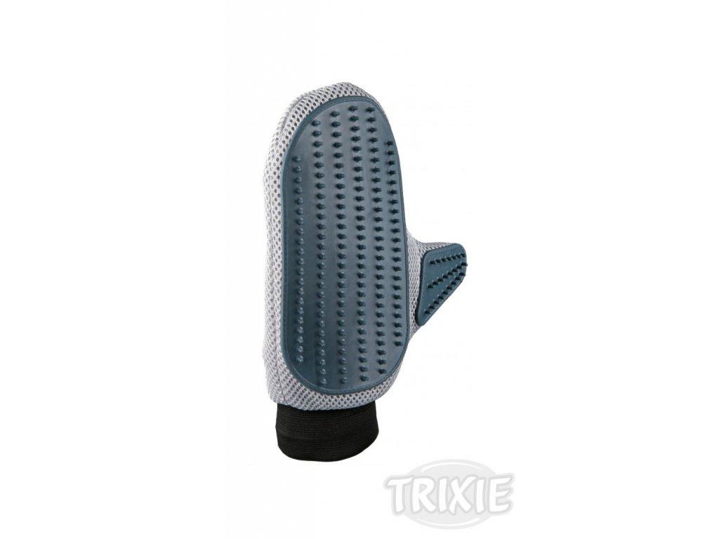 Pečující rukavice s jemnými gumovými zuby 18x24 cm