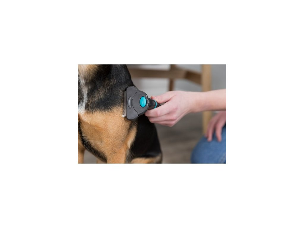 Trimovací hrablo s výměnitelnou hlavou 11x15cm pro velké psy
