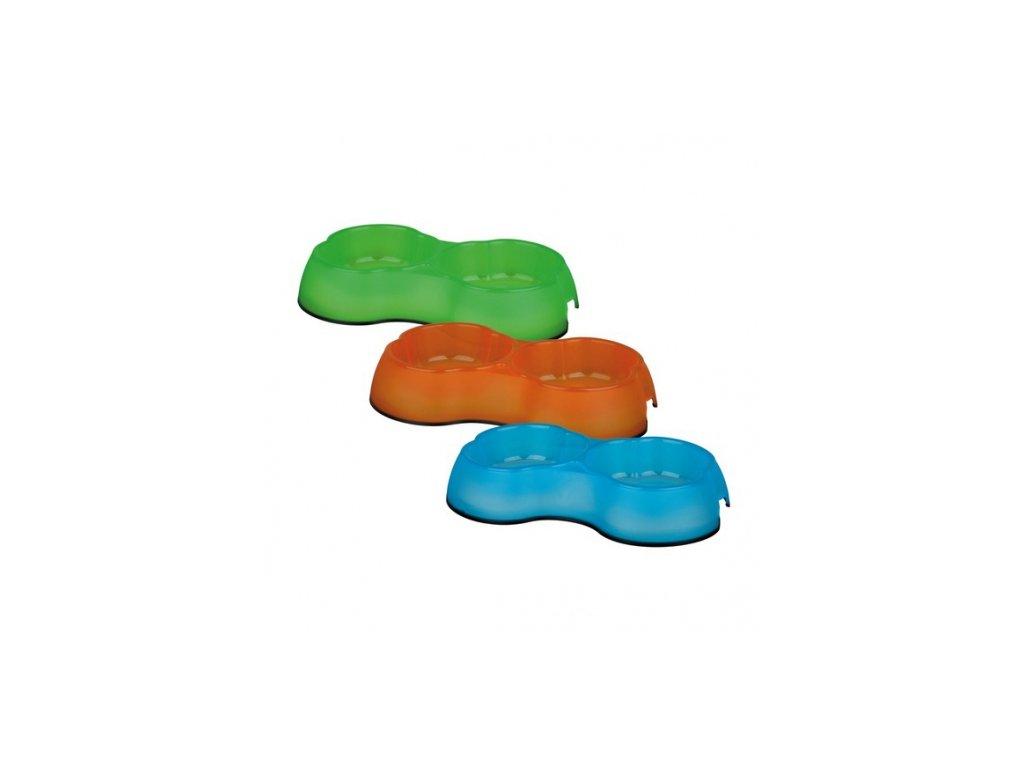 Plastová dvojmiska s gumou 2 x 0,3 l /10 cm