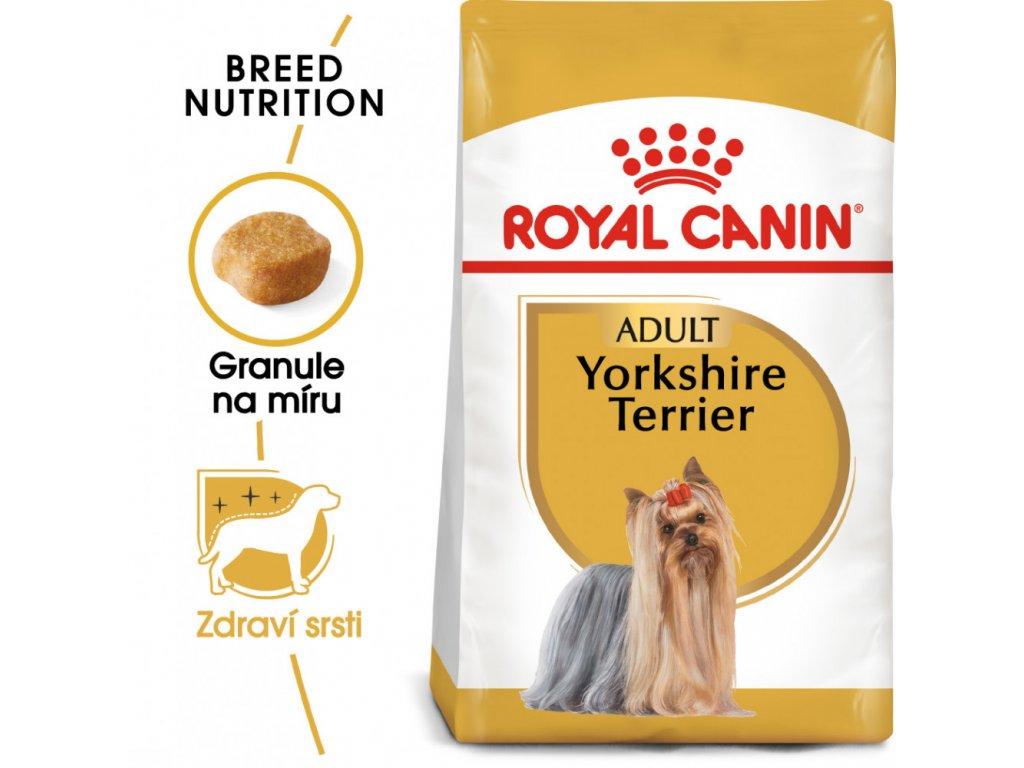 ROYAL CANIN Yorkshire Adult  Kvalitní masové granule pro malé psy a Yorkshirské teriéry