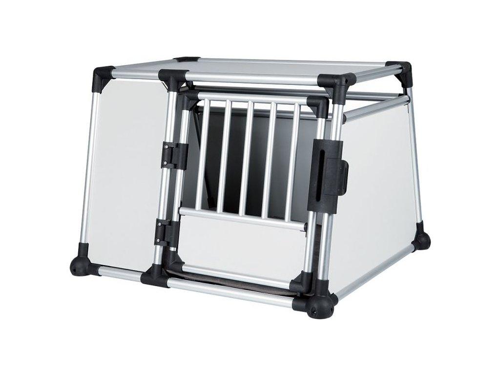 Transportní klec - hliníkový rám, pevné panely 93x65x81 cm