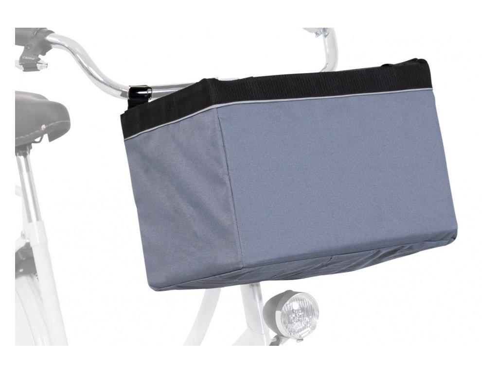 Front-Box transportní box na řidítka, 38 x 25 x 25cm, šedá (max 6kg)