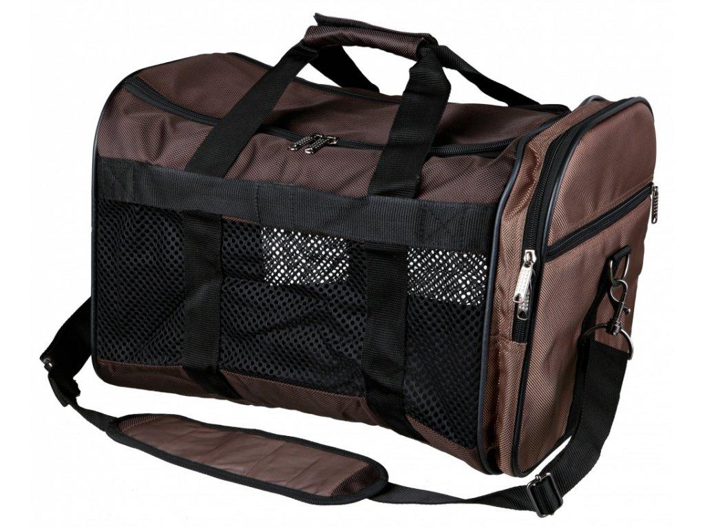 Taška DeLuxe SAMIRA 47x30x28cm max. do 9kg - hnědo/béžová