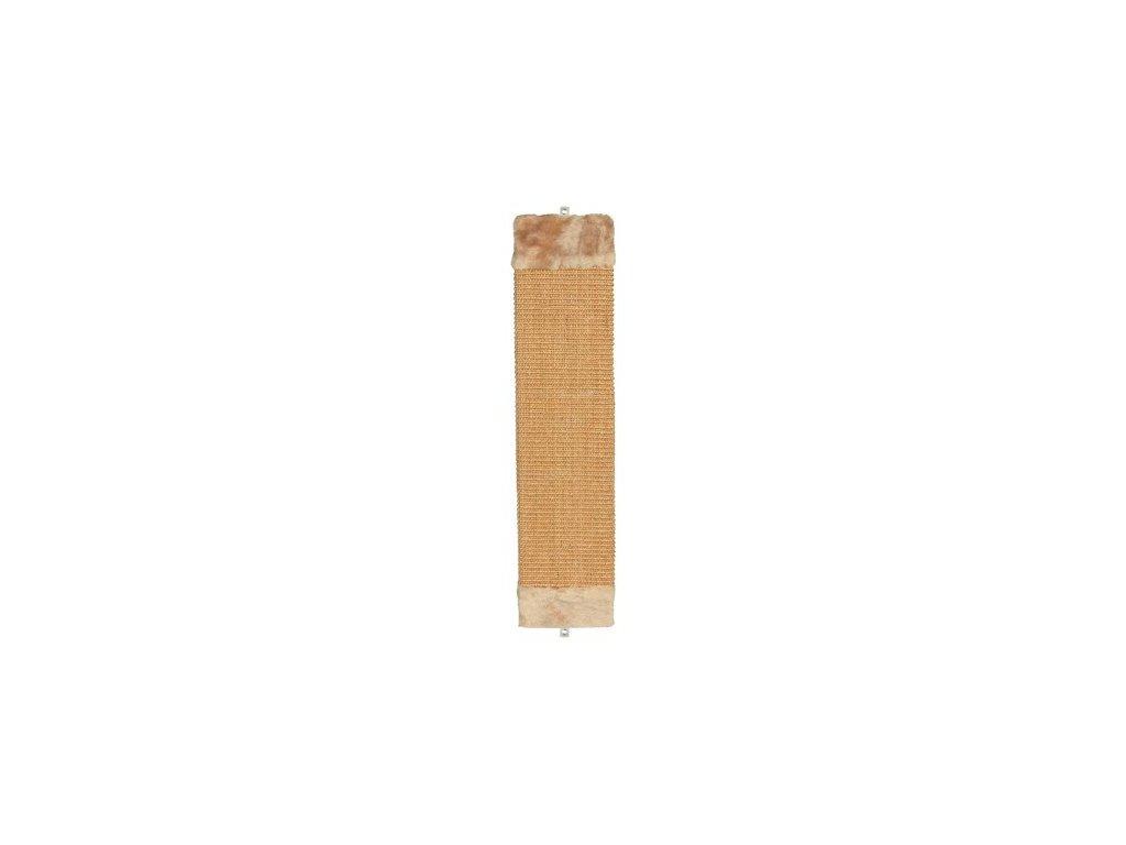 Škrábadlo nástěnné s plyšovým zakončením 15x62 cm, - béžové
