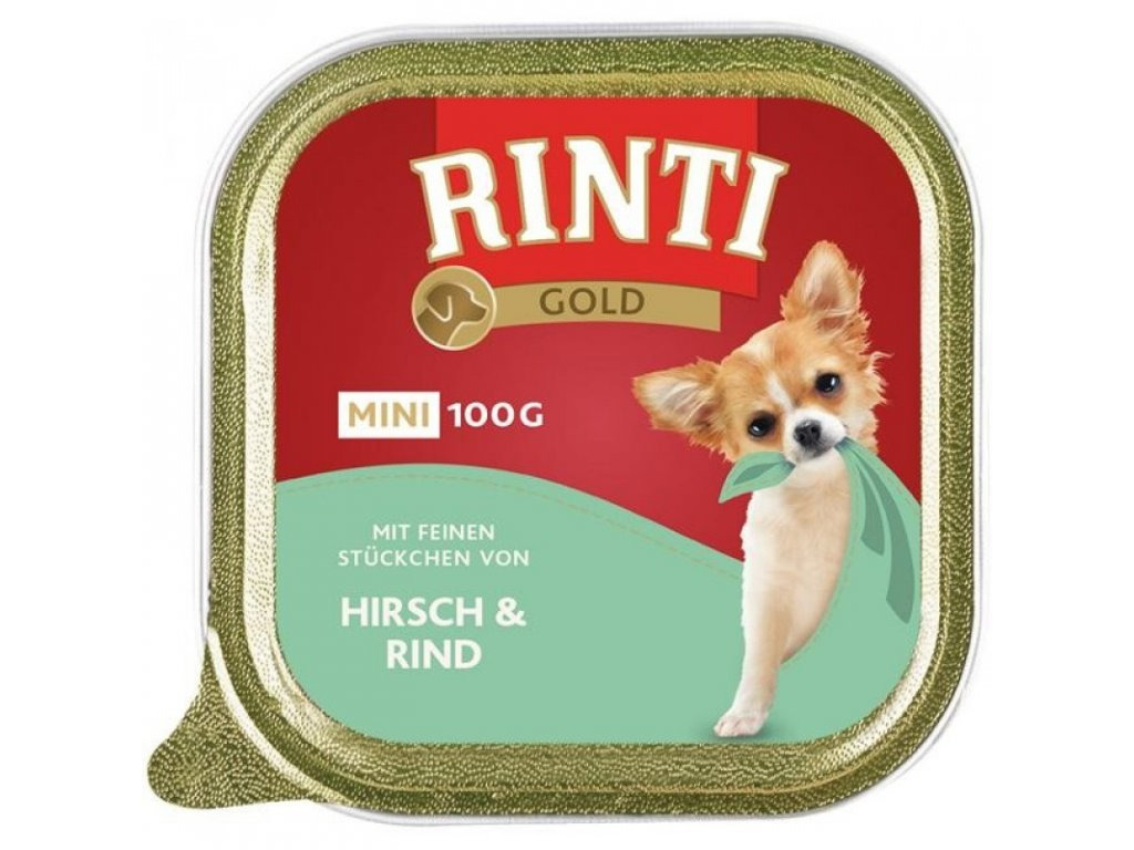 FINNERN RINTI GOLD MINI JELEN & HOVĚZÍ 100 G