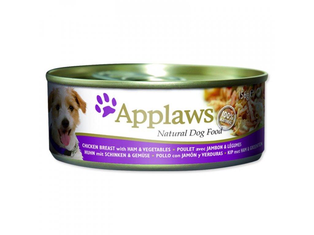 Konzerva Applaws Dog Chicken, Ham and Vegetables 156g