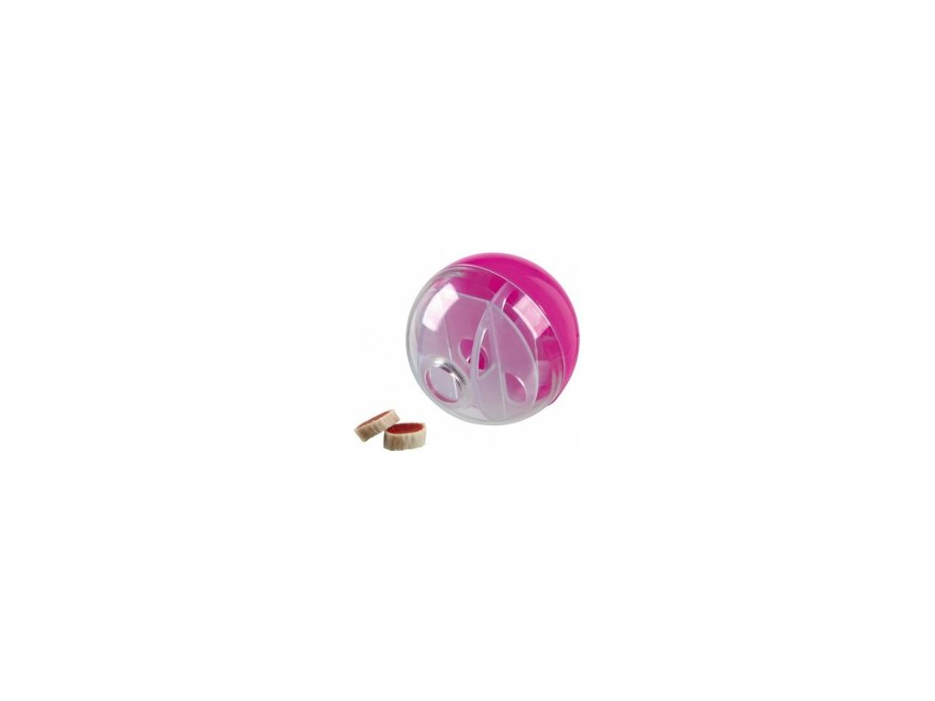 Míček na pamlsky pro kočky, různobarevný 5 cm