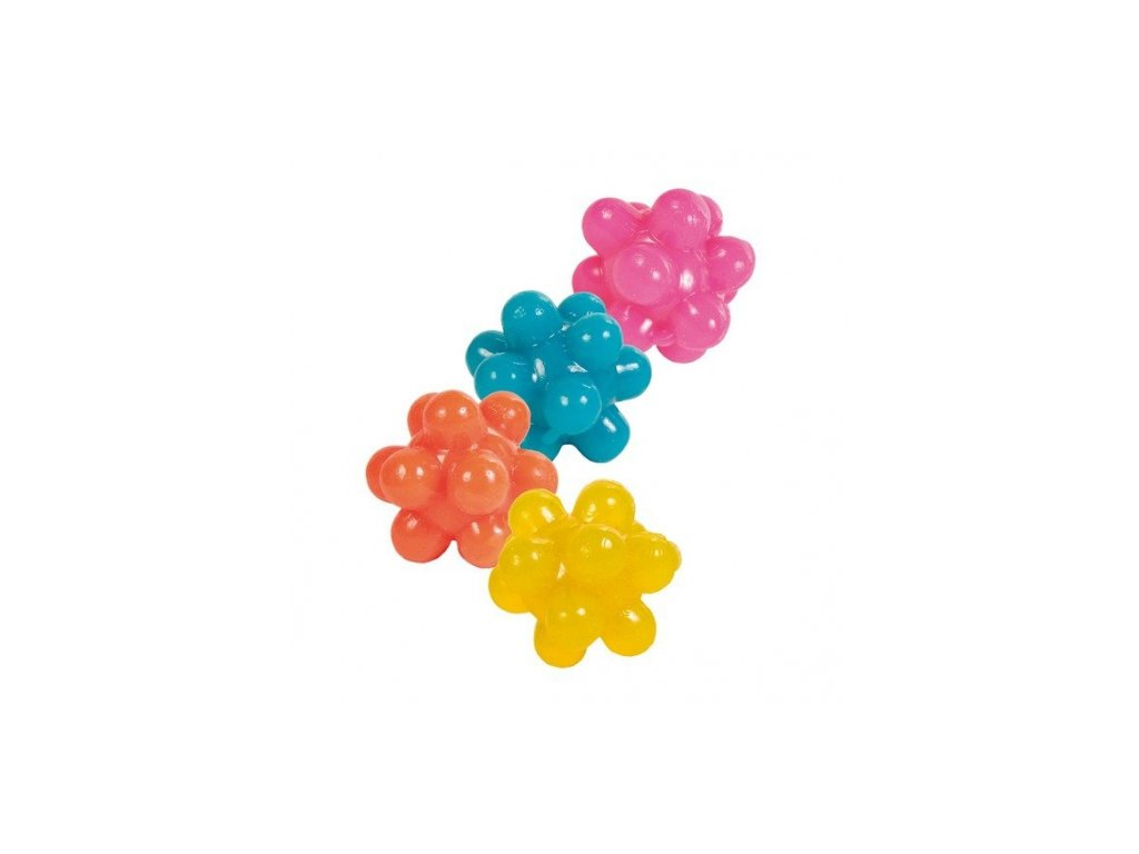Ježaté kuličky mechová guma 3,5 cm 4ks
