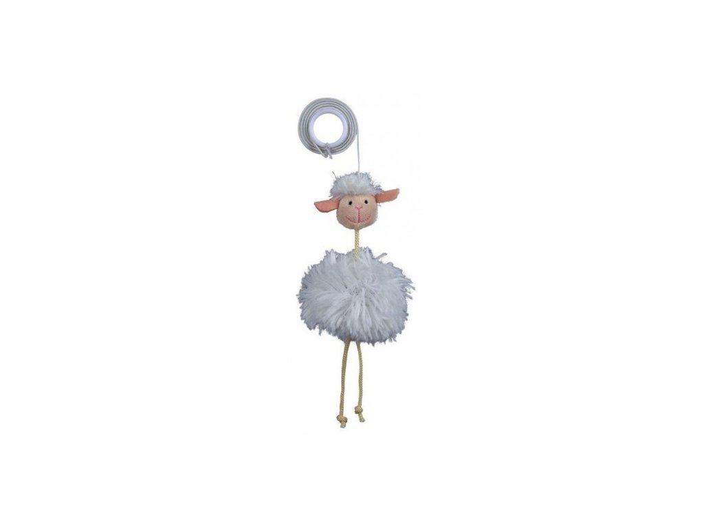 Plyšová ovečka na gumičce 20 cm