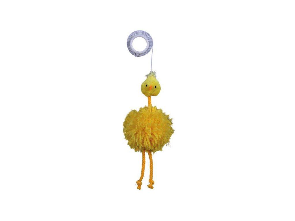 Plyšové kuřátko na gumičce 20 cm