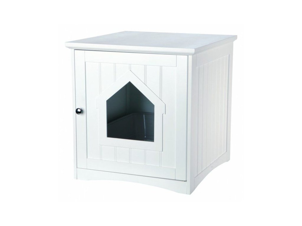Skříňka na kočičí toaletu 49 x 51 x 51 cm bílá