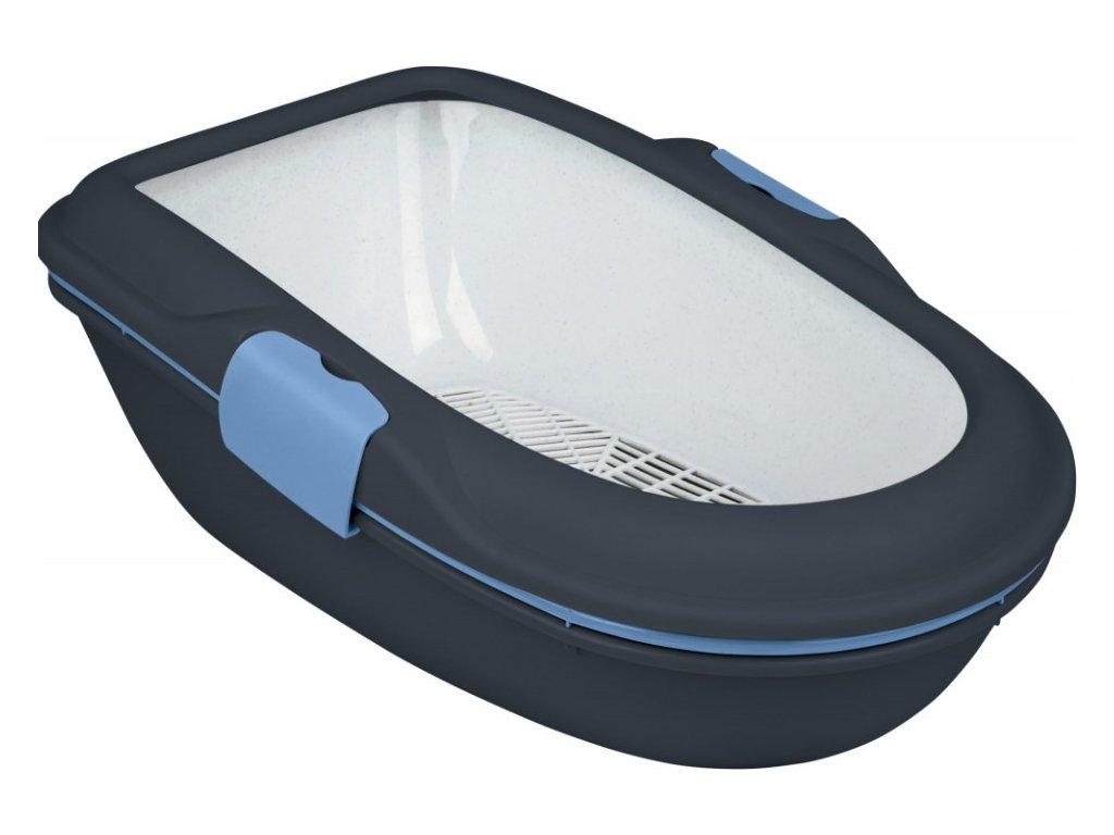 WC BERTO - dvojitá nádoba se sítem 59x39x22 cm modré