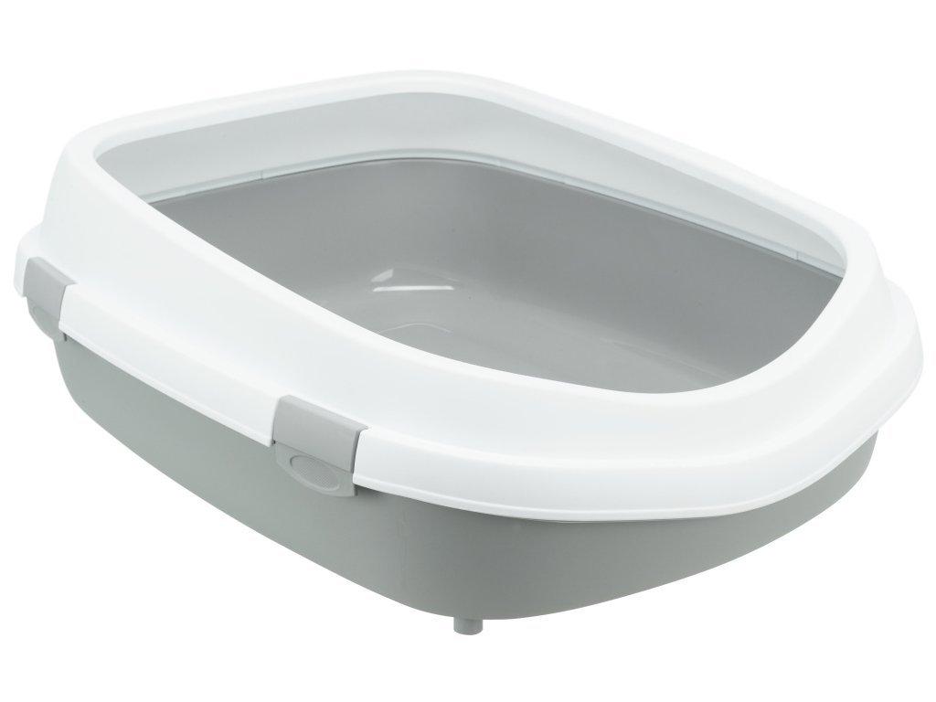 Toaleta Primo XXL s okrajem, 56 x 25 x 71cm, šedá/bílá