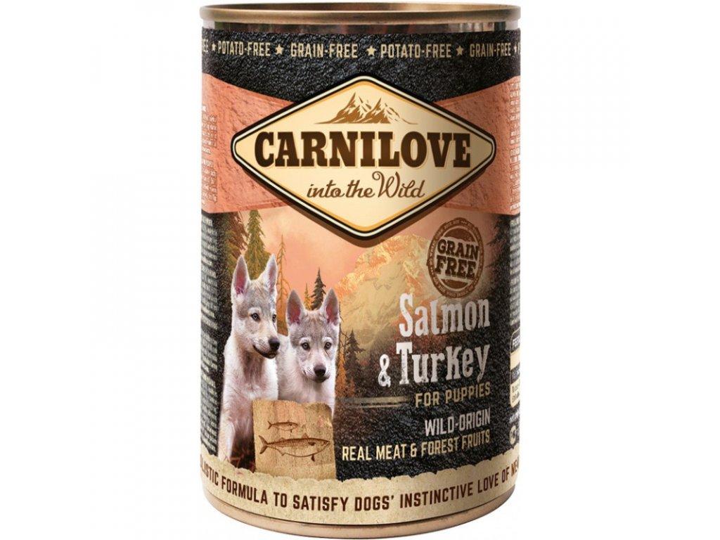 CARNILOVE DOG  Wild Meat Salmon & Turkey For puppies 400g