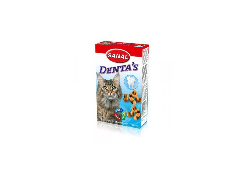 SANAL DENTA´S Bites 75 g - křupavý snack na čištění zubů