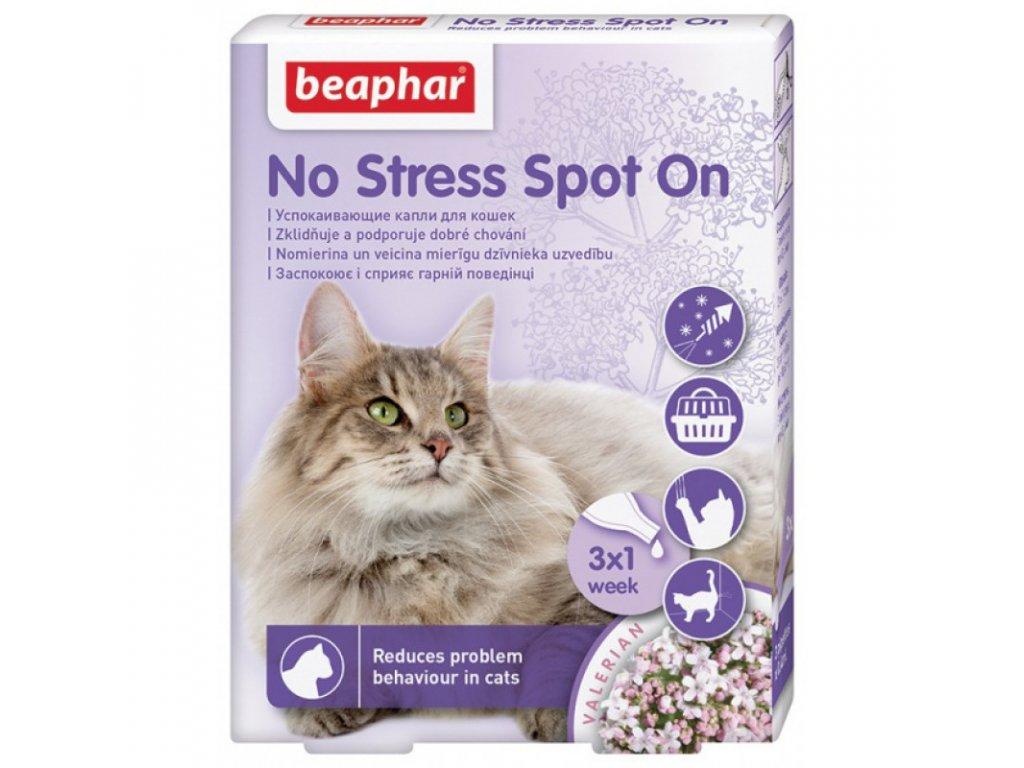 Beaphar No Stress Spot On pro kočky 3 pipety á 0,4ml - antistresový přípravek