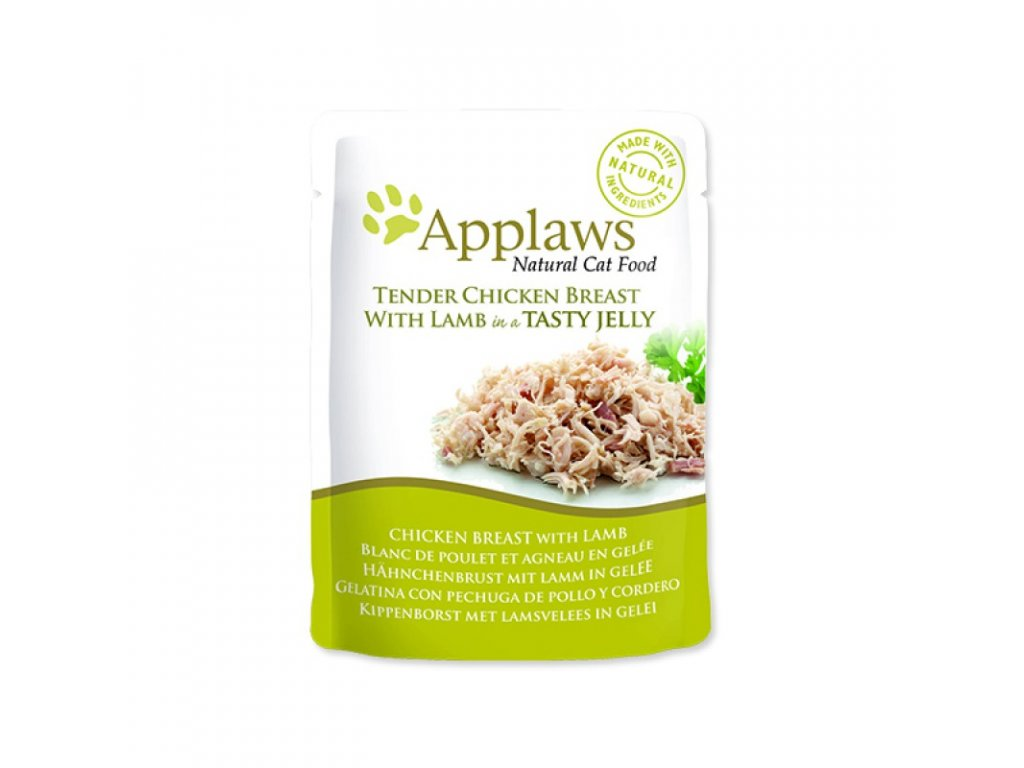 KAPSIČKA APPAWS CAT POUCH CHICKEN WITH LAMB IN JELLY 70G