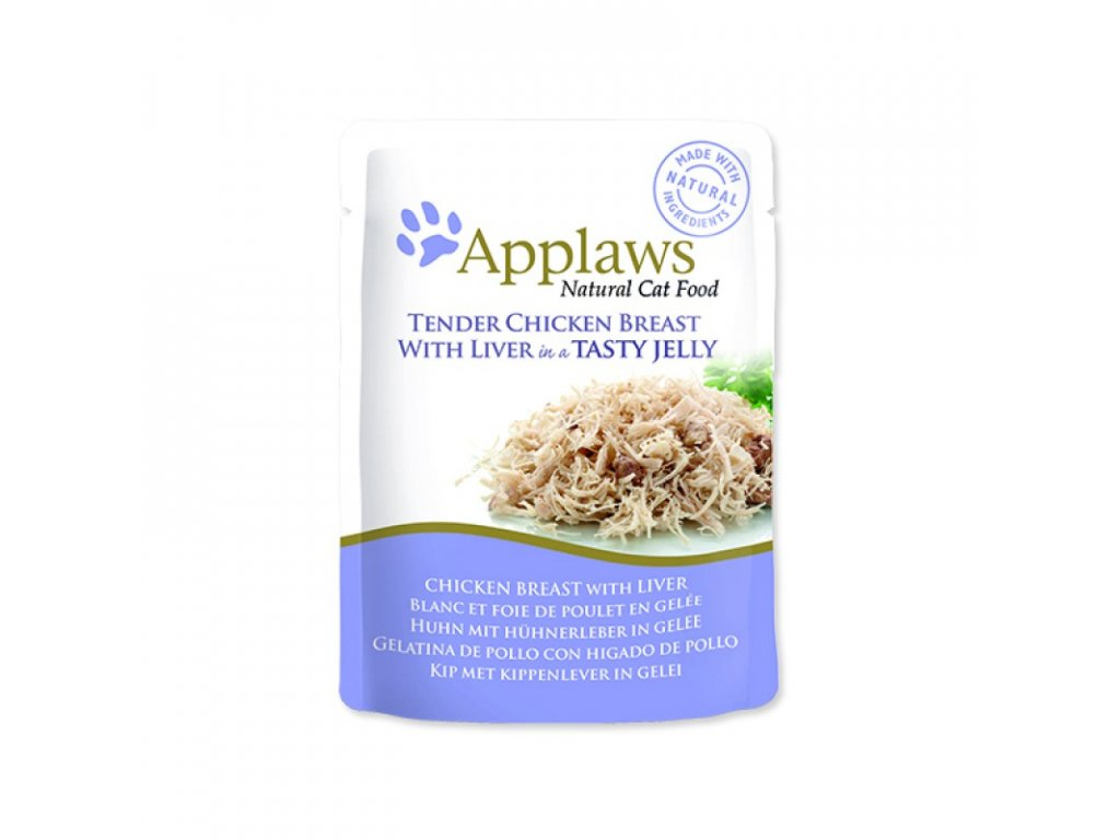 Kapsička Applaws Cat Chicken with Liver in Jelly 70g