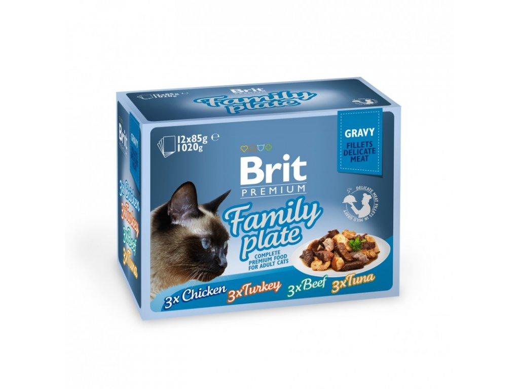 Brit Premium Cat D Fillets in Gravy Family Plate 1020g - 12x85g