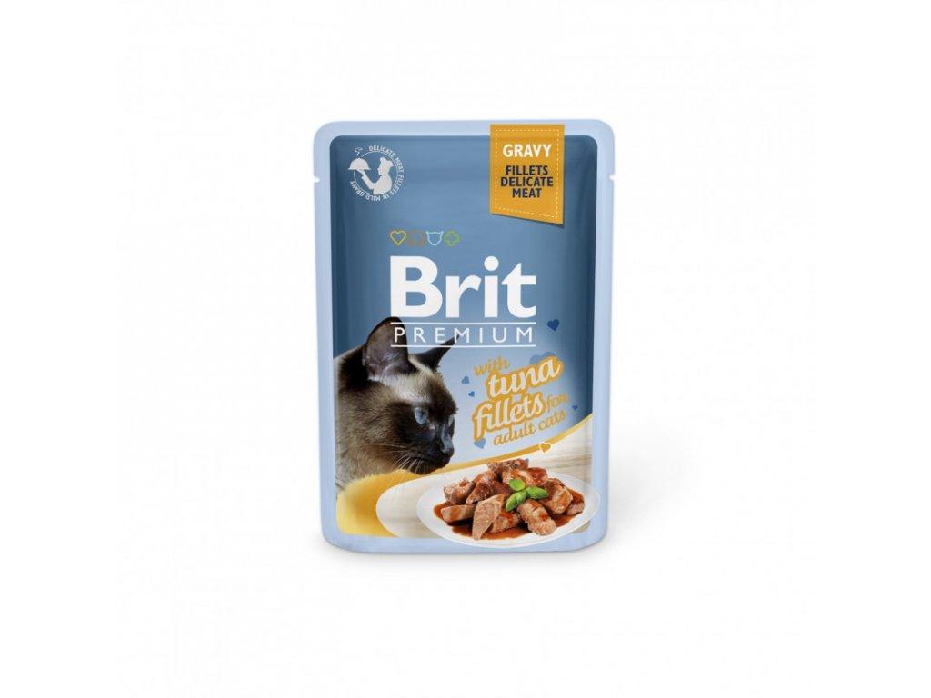 BRIT PREMIUM CAT DELICATE FILLETS IN GRAVY WITH TUNA 85 G