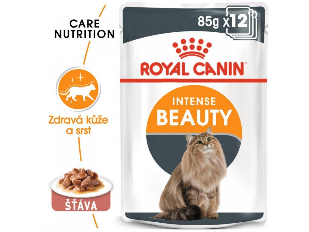 ROYAL CANIN Intense Beauty Gravy 12X85G (BAL.)  Intense Beauty Gravy kapsička pro kočky ve šťávě