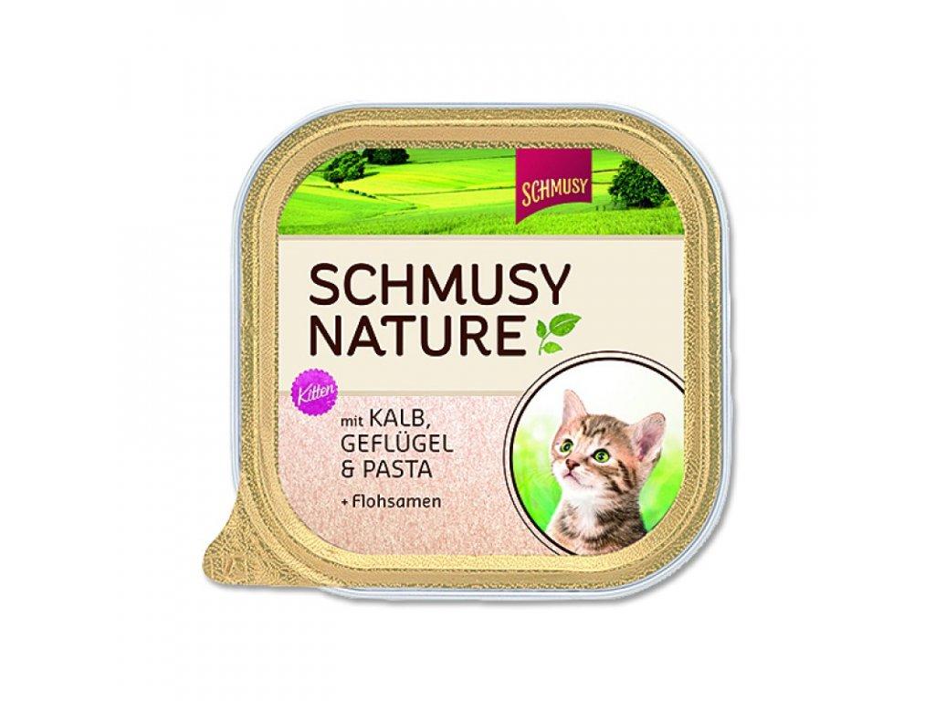 Schmusy Cat Nature Menu vanič Junior telecí+drůbež 100g