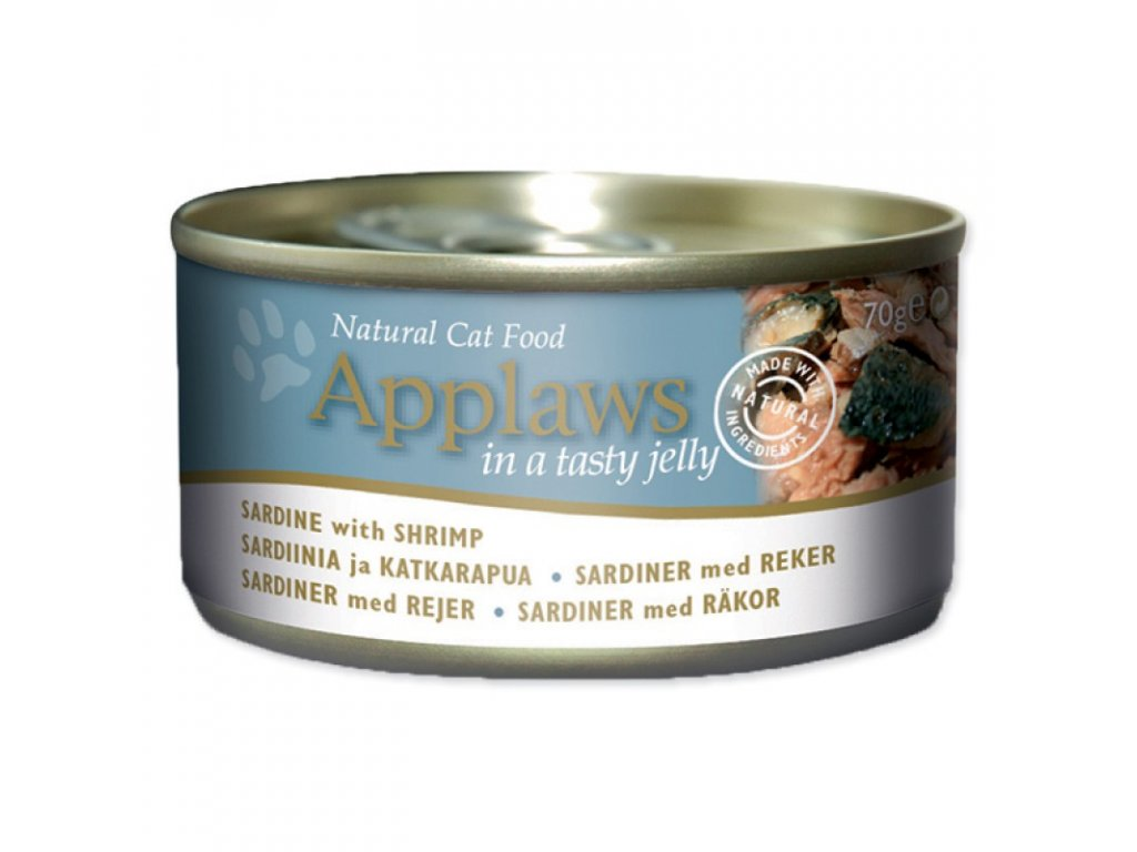 Konzerva Applaws Cat Sardine  with Shrimp 70g