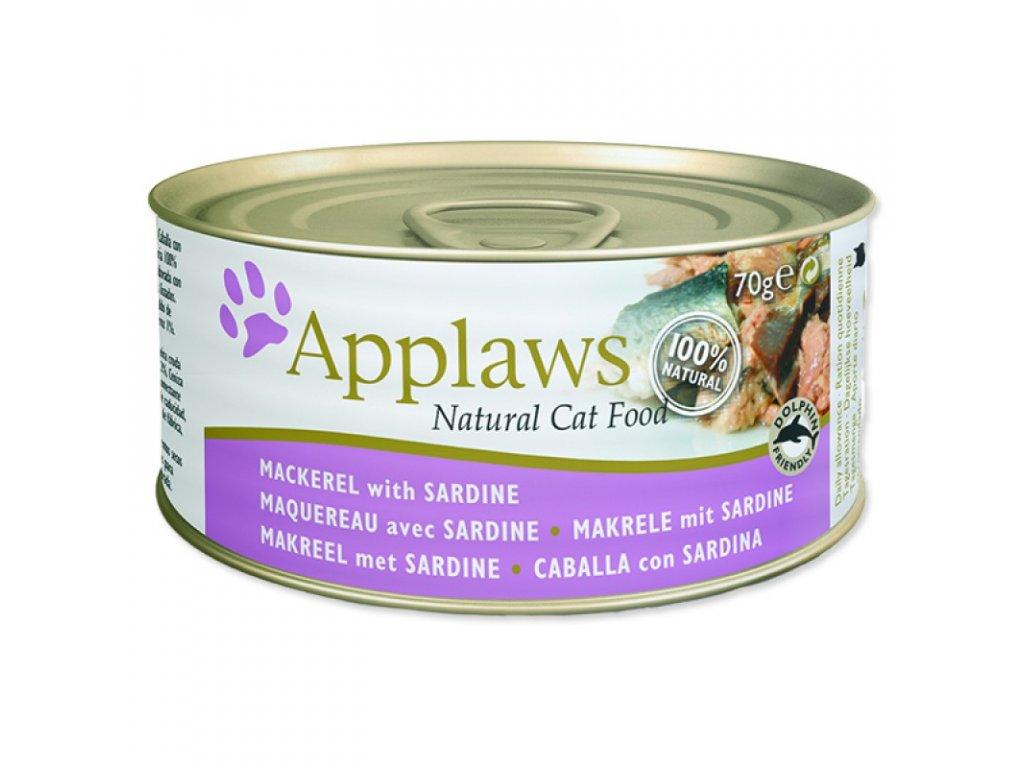 Konzerva Applaws Cat Mackerel and Sardine 70g