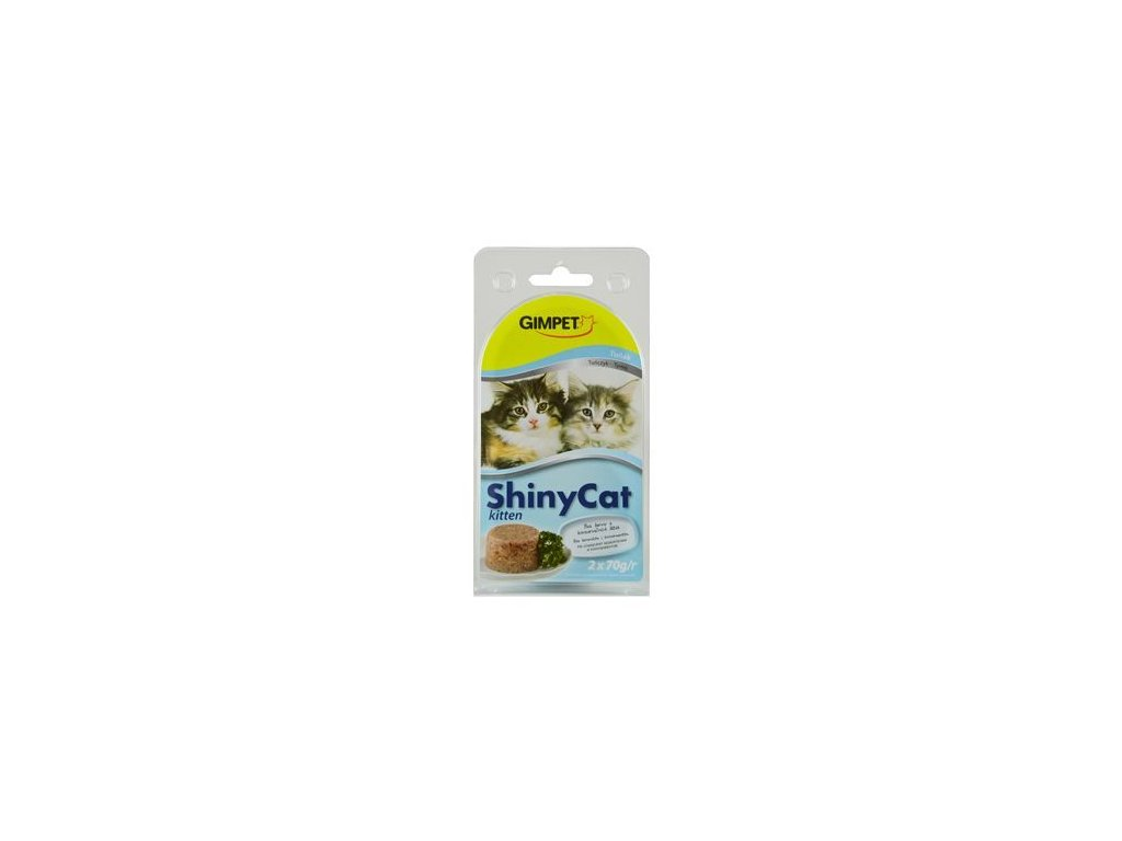 Gimpet kočka konzerva ShinyCat Junior kuře 2x70g