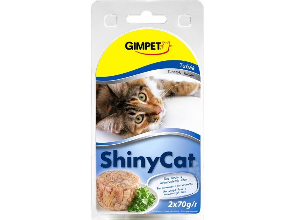 Gimpet kočka konzerva ShinyCat tuňak 2x70g