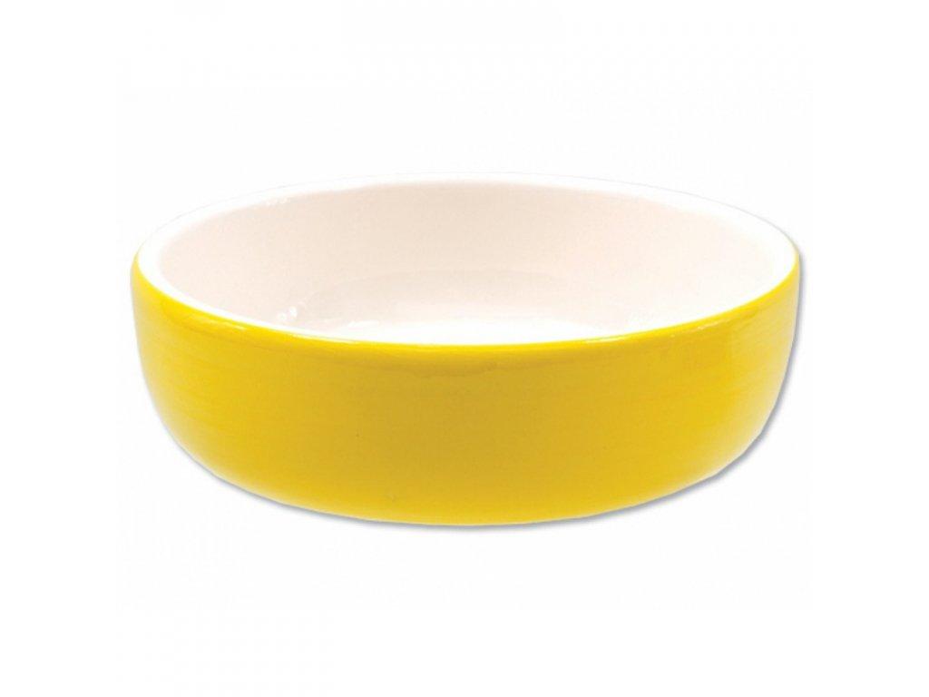 Miska MAGIC CAT keramická žlutá 14,5cm