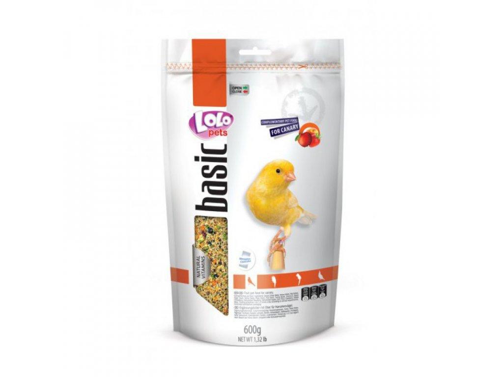 LOLO BASIC ovocné krmivo pro kanárky 600 g Doypack