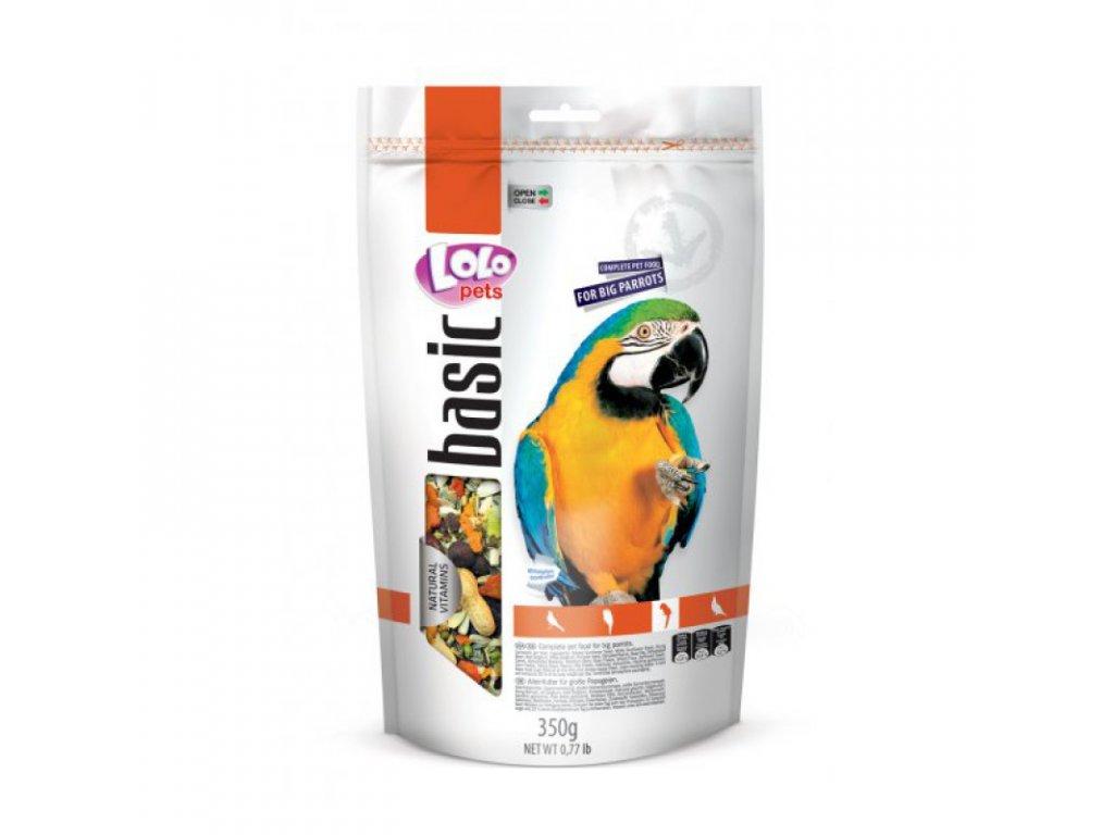 LOLO BASIC kompletní krmivo pro velké papoušky 350g